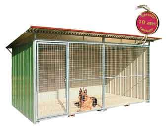 chenil chien vente de chenil pour chien chenil en kit. Black Bedroom Furniture Sets. Home Design Ideas