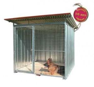 Chenil chien metal kit 9404001 300x279 Chenils tôlés